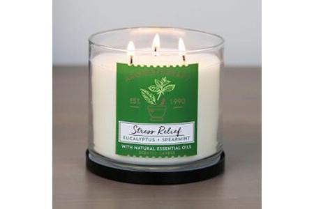 Огляд свічки з трьома гнотами Aromatherapy Stress Relief від Bath & Body Works