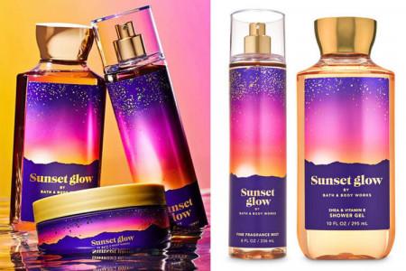 Серія засобів Sunset Glow від Bath & Body Works