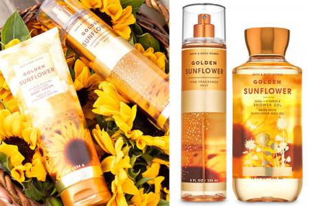 Серія засобів Golden Sunflower Bath & Body Works