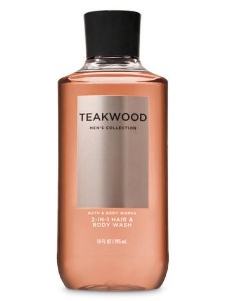 Шампунь для волосся і гель для душу 2в1 Bath and Body Works 2-in-1 Hair & Body Wash Teakwood
