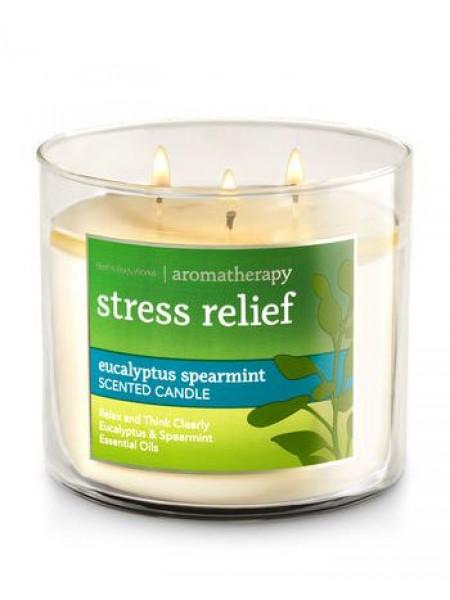Свеча Aromatherapy Stress Relief Eucalyptus Spearmint От Bath And Body Works