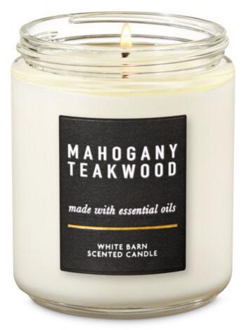 Уцінка! Ароматизована свічка Mahogany Teakwood Bath & Body Works