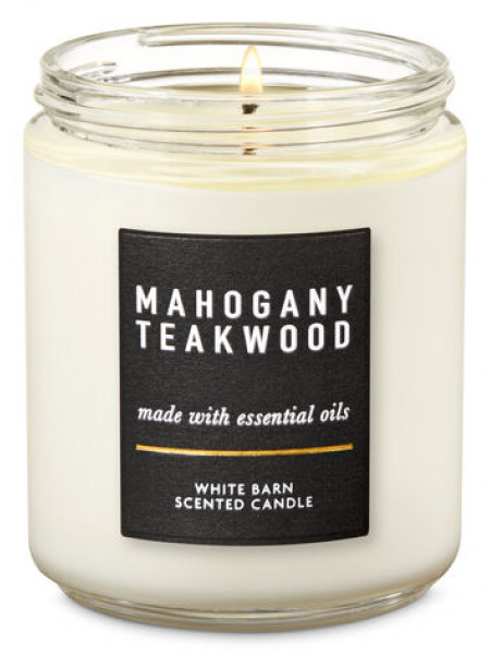 Уценка! Ароматизированная свеча Mahogany Teakwood Bath & Body Works