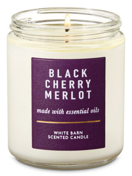 Ароматизированная свеча Black Cherry Merlot Bath & Body Works