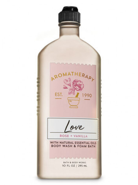 Гель-Піна Для Душа Aromatherapy Love By Bath & Body Works - Rose Vanilla