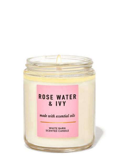 Ароматизована свічка Rose Water & Ivy Bath & Body Works