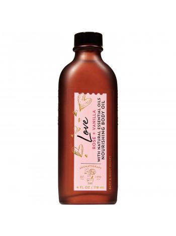 Масажне масло для тіла Bath and Body Works Aromatherapy Rose Vanilla Moisturizing Body Oil 118 мл