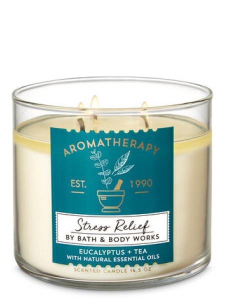 Свеча Aromatherapy Stress Relief Eucaliptus Tea От Bath And Body Works