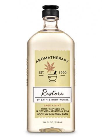 Гель-Піна Для Душа Aromatherapy Restore By Bath & Body Works - Sage Mint