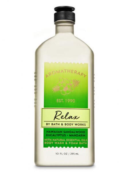 Гель-Піна Для Душа Aromatherapy Relax By Bath & Body Works - Hawaiian Sandalwood Eucalyptus