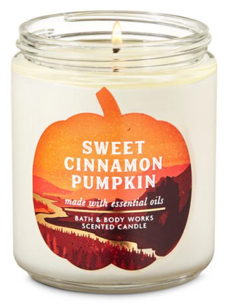 Ароматизированная свеча Sweet Cinnamon Pumpkin Bath & Body Works
