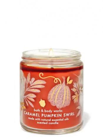 Ароматизована свічка Caramel Pumpkin Swirl Bath & Body Works