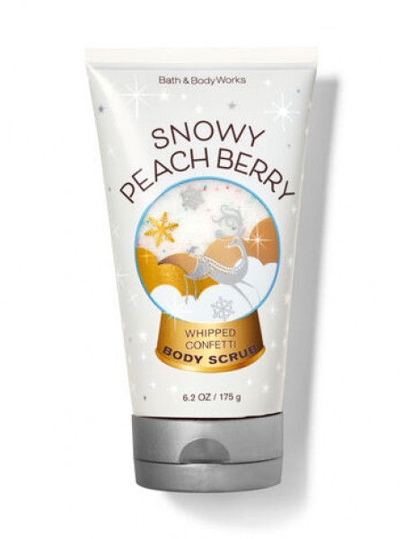 Скраб Snowy Peach Berry от Bath And Body Works
