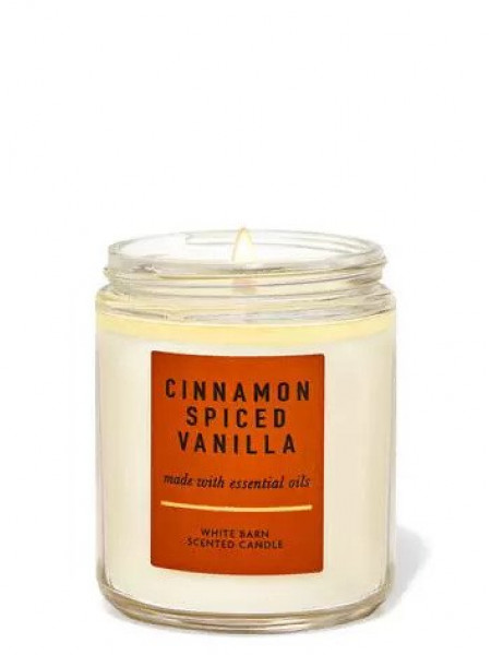 Ароматизированная свеча Cinnamon Spiced Vanilla Bath & Body Works