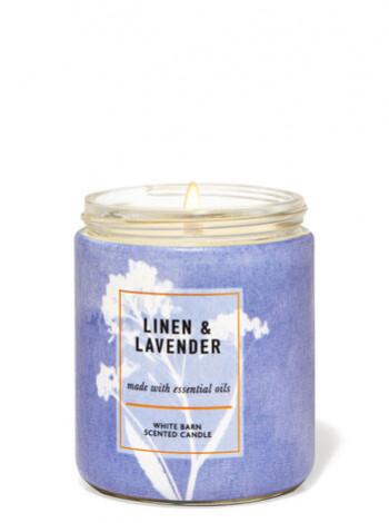 Ароматизована свічка Linen Lavender Bath & Body Works
