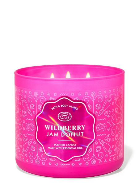 Свеча Wildberry Jam Donut От Bath And Body Works