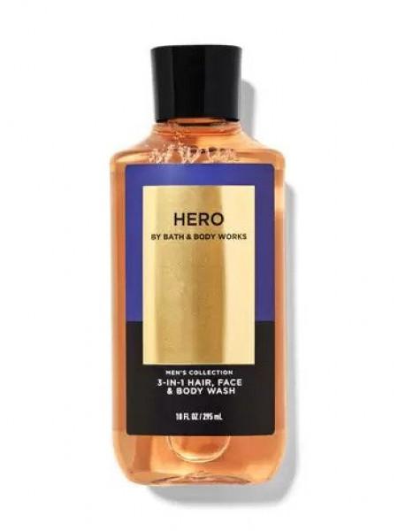 Bath and Body Works 2-in-1 Hair & Body Wash Hero - Шампунь для волосся і гель для душу 2в1 «свіжий кардамон, корінь ветівера і білий кедр»