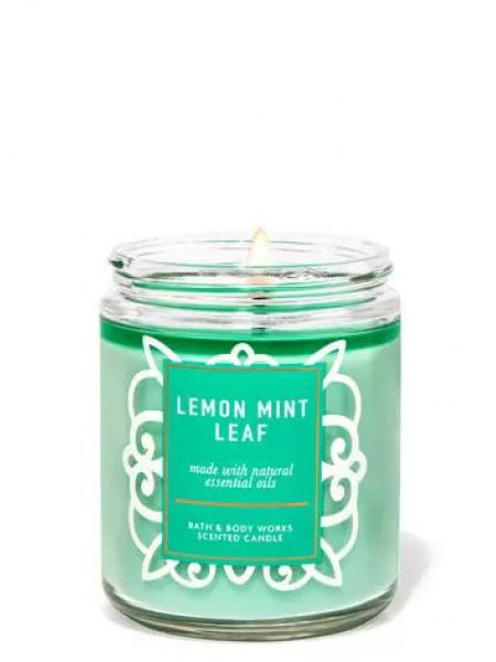 Ароматизированная свеча Lemon Mint Leaf Bath & Body Works