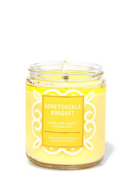Ароматизированная свеча Honeysuckle Bouquet Bath & Body Works