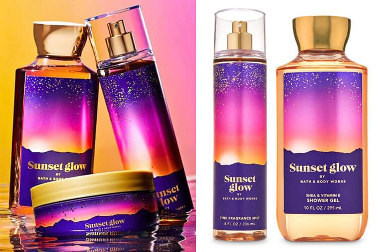 Серія Sunset Glow від Bath & Body Works