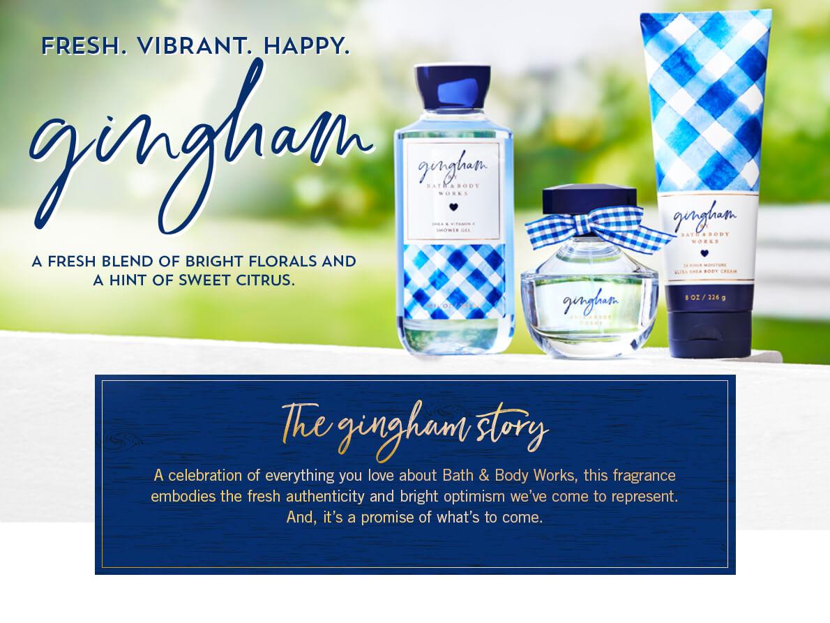 Основні нотки аромату GINGHAM від BATH & BODY WORKS